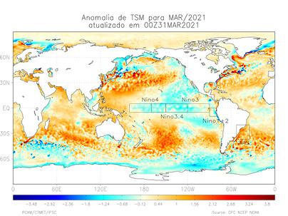 Previsão Climática para os Próximos três meses maio, junho e julho de 2021