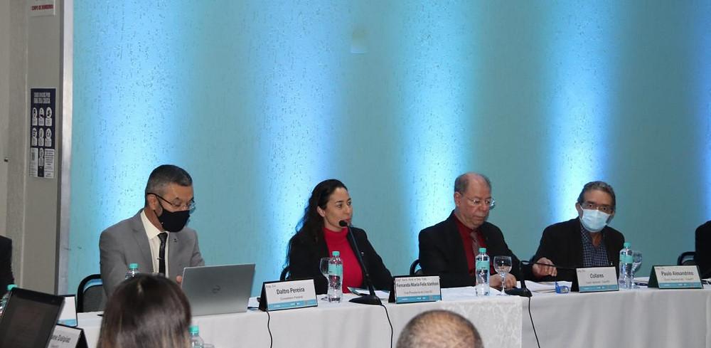 Fernanda Vanhoni, 1ª vice-presidente do Crea-SC, participou da abertura da reunião
