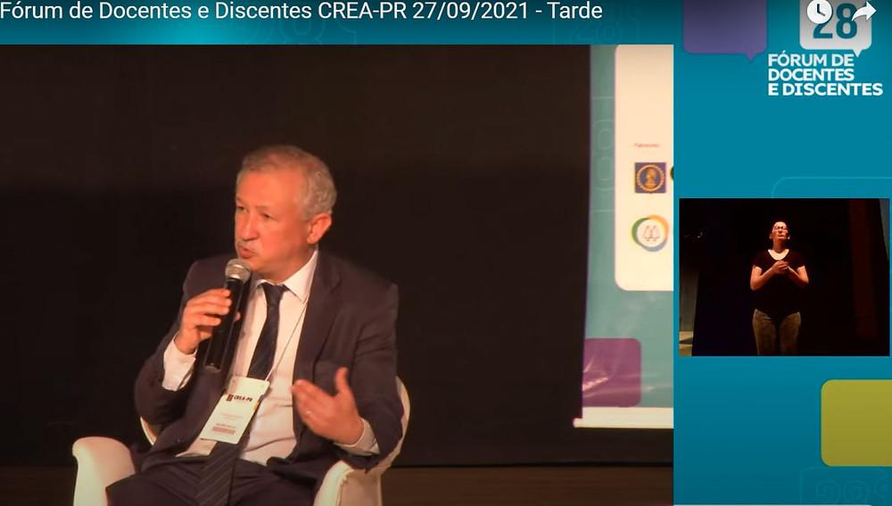Presidente do Crea-PR, eng. civ. Ricardo Rocha, também considerou o papel da inserção profissional