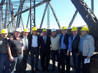 ACE vistoria andamento das obras da Ponte Hercílio Luz