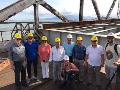 Vistoria na Ponte Hercílio Luz