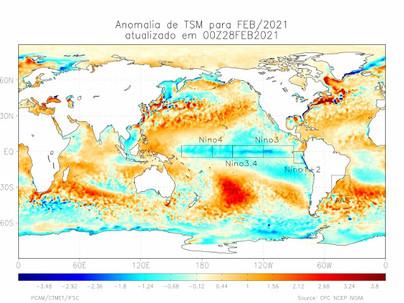 Previsão Climática para os Próximos três meses: abril, maio e junho de 2021