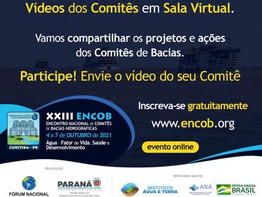 Compartilhe projetos e ações do seu Comitê de Bacia no XXIII ENCOB 2021