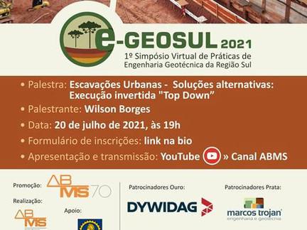 Confira a programação do 1º Simpósio Virtual de Práticas de Engenharia Geotécnica da Região Sul
