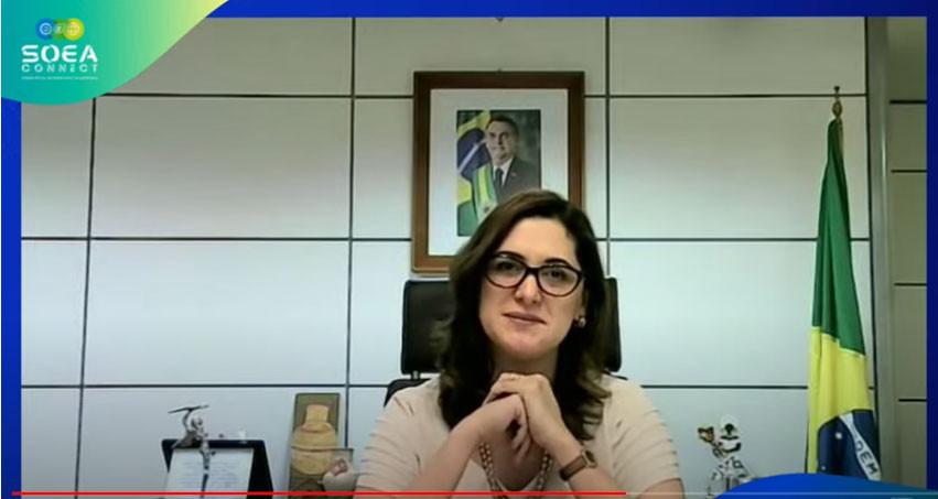 Secretária Nacional de Políticas para Mulheres, Cristiane Rodrigues Brito