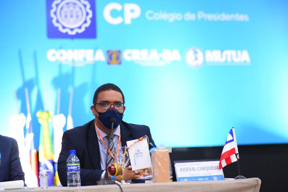 Presidente do Crea-BA, eng. agrim. Joseval Carqueija