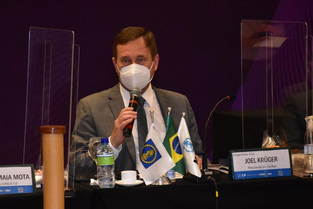 Presidente do Confea, eng. civ. Joel Krüger
