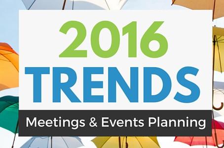 As 5 maiores tendências em 2016 para o setor de evento