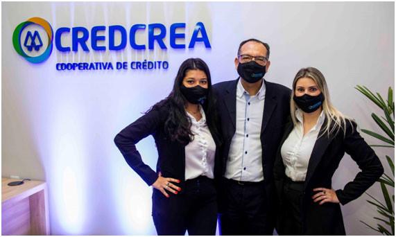 Equipe CredCrea de Maringá,PR: Jéssica Gonçalves, Eduardo Jesus e Aline Furtunato