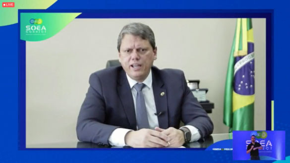 Ministro Tarcísio Freitas: relação de investimentos previstos