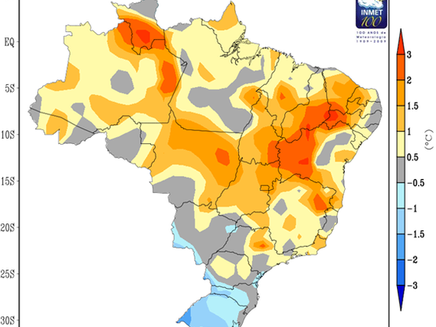 O mês de março de 2016 foi o mais quente já registrado no Brasil