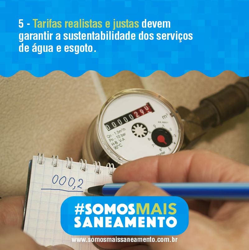 Tarifas reais e justas devem garantir a sustentabilidade dos serviços de água e esgoto