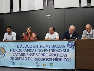 Diálogo entre bacias hidrográficas do Extremo Sul Catarinense discute boas práticas de Gestão de Rec