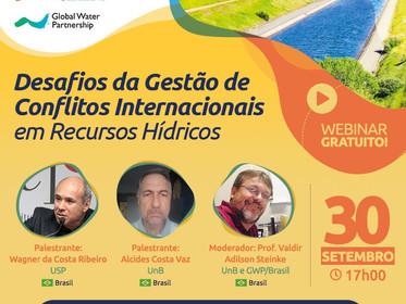 Webinar Desafios da Gestão de Conflitos Internacionais em Recursos Hídricos