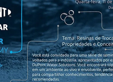 Participe do seminário online da DuPont sobre Resinas de Troca Iônica (11 de março)