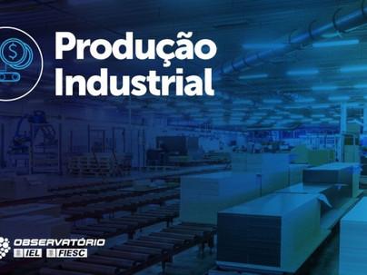 Produção industrial de SC cresce 26,7% no acumulado do ano