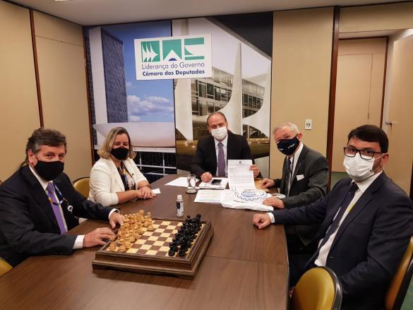 Delegação do Confea encontra-se com o deputado Ricardo Barros, líder do governo no Congresso