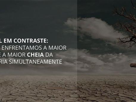 Brasil em contraste: como enfrentamos a maior seca e a maior cheia da história simultaneamente