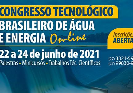 Produção agrícola e industrial será foco do Congresso Tecnológico Brasileiro de Água e Energia