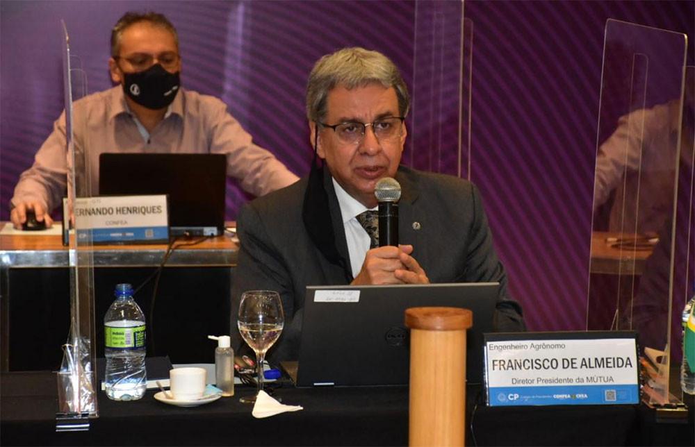 Diretor-presidente da Mútua, eng. agr. Francisco de Almeida