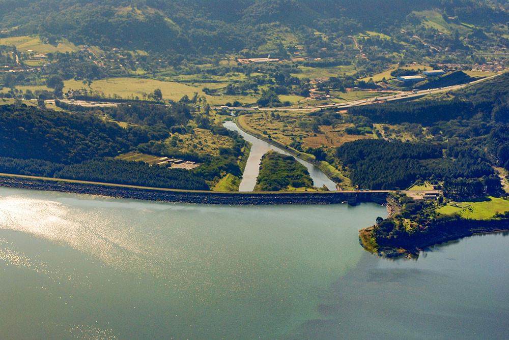 Vargem - Barragem do Rio Jaguari. Acervo Agência das Bacias PCJ