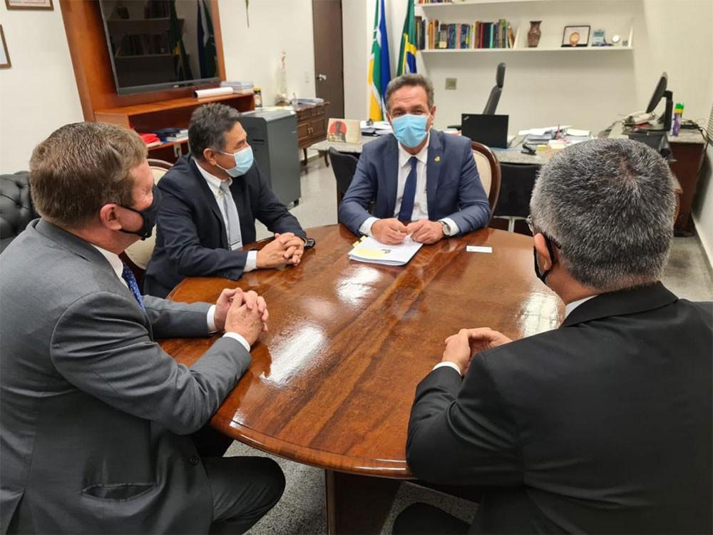 Senador Lucas Barreto (PSD-AP) recepcionou comitiva do Confea e Crea-AP