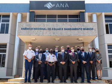 Dirigentes da ANA recebem líderes sênior do USACE para diálogo sobre parceria entre as instituições