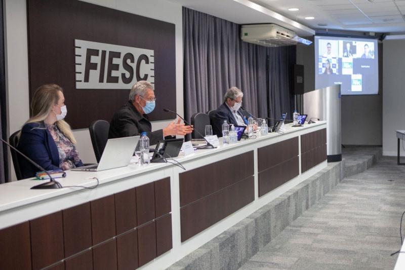 Reunião foi realizada na FIESC (foto: Filipe Scotti)