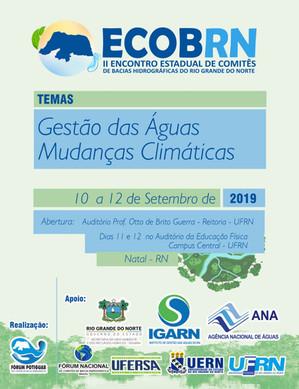 Participe do II ECOB RN - Gestão das Águas e Mudanças Climáticas