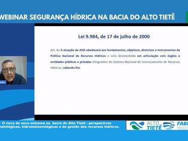ANA debate segurança hídrica na bacia do Alto Tietê