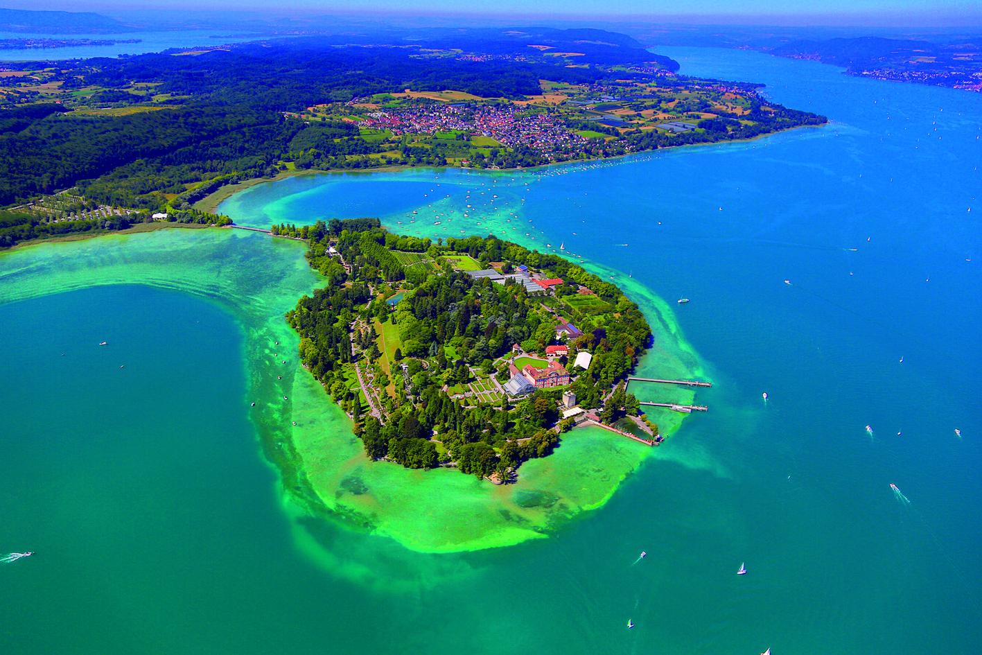 空から見たマイナウ島
