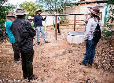 Sistema de reuso da água é disseminado para famílias no interior da Bahia