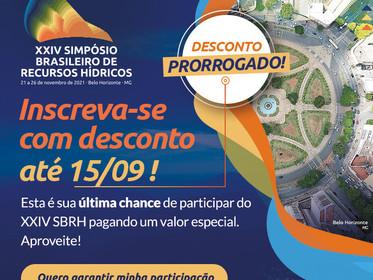 Valor especial para participar do XXIV SBRH até 15/09