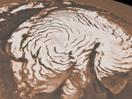 Noites marcianas têm tempestades de neve e ventos de 36 km/h