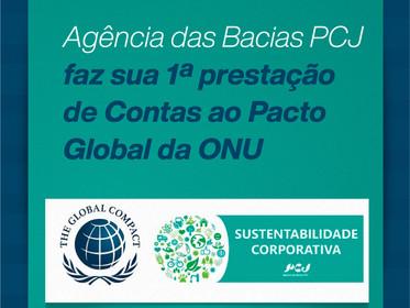 Agência das Bacias PCJ faz sua 1ª prestação de Contas ao Pacto Global da ONU