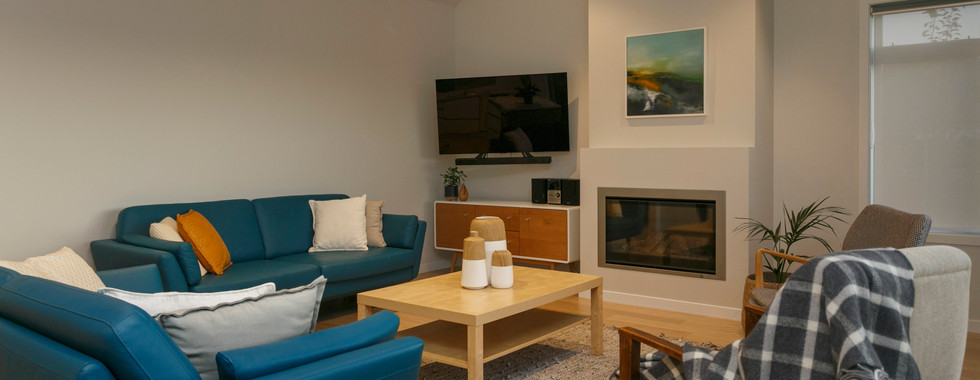 Contemporary Living Room Lake Taupo