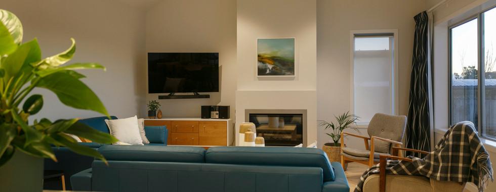 Modern Living Room Lake Taupo