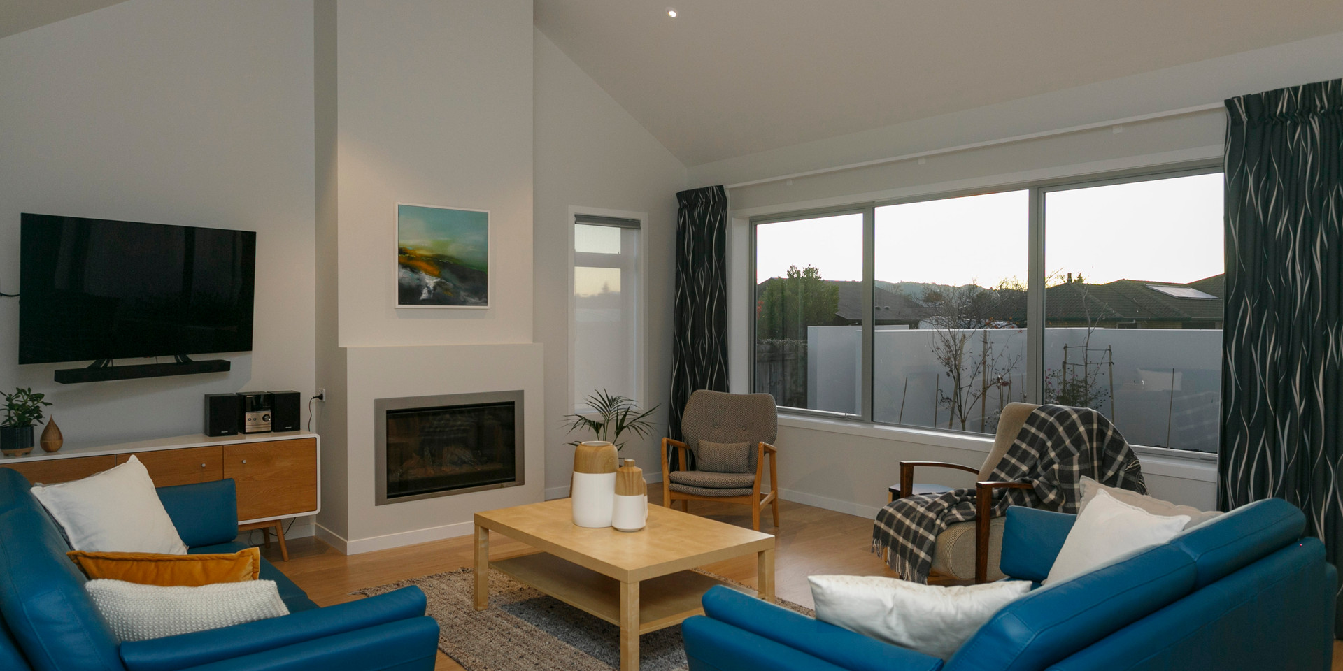 Two Storey Lake Taupo Living Room