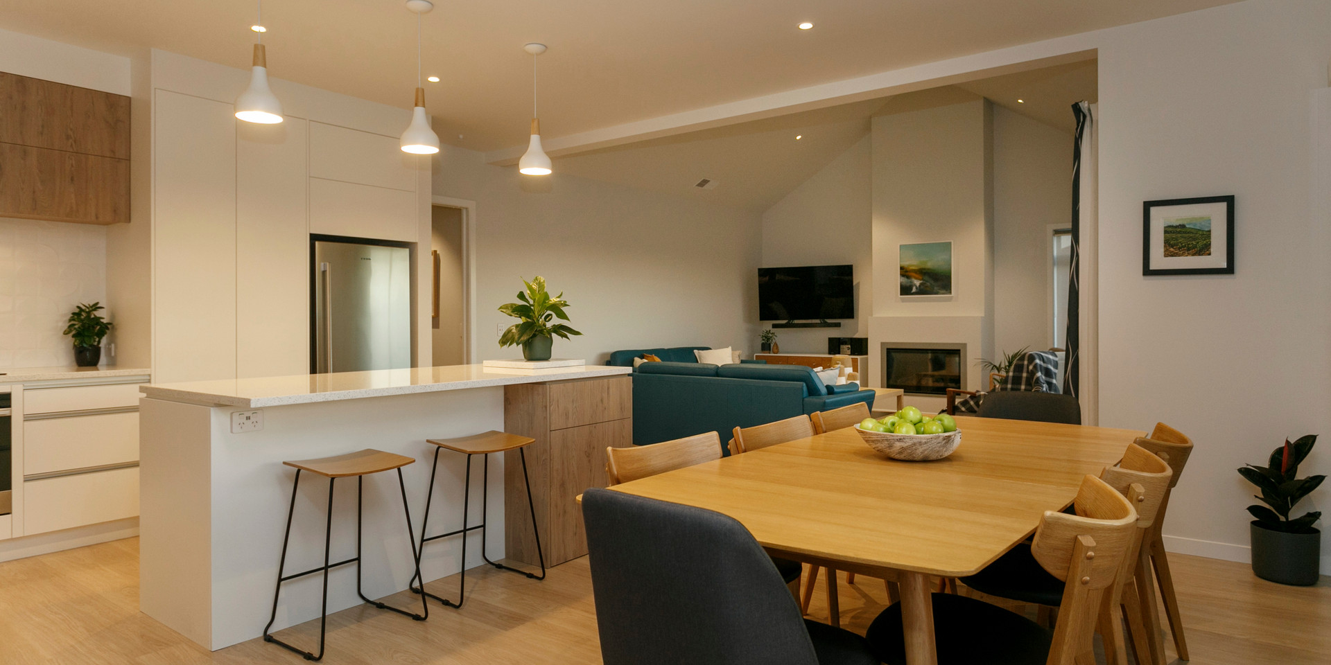 Open Plan Kitchen Dining Living