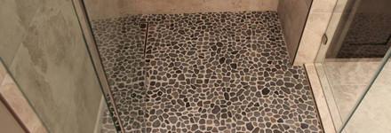 Top View Pebbled Floor