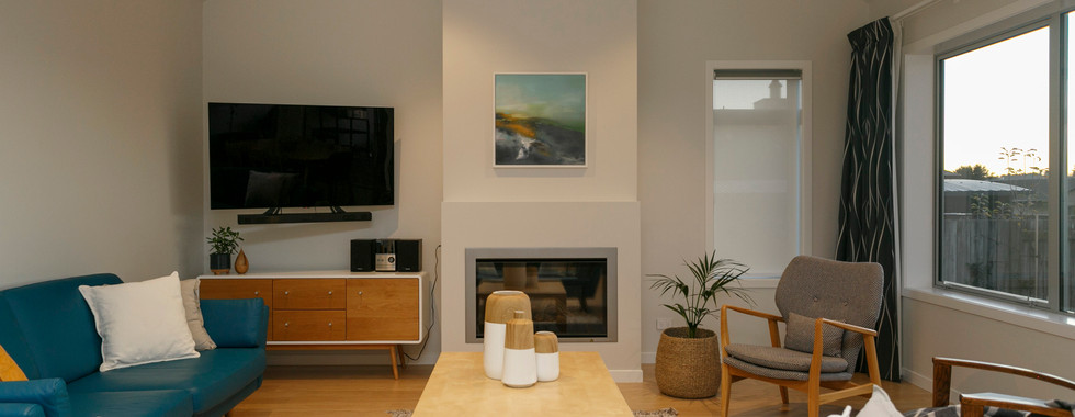 Modern Vaulted Ceiling Living Room