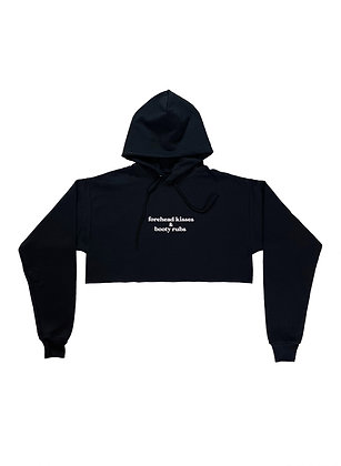 Forehead Kisses & Booty Rubs - Full or Cropped Hoodie