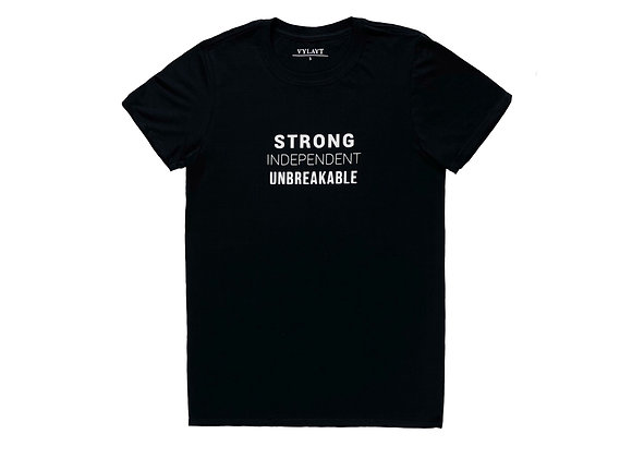 Strong, Independent, Unbreakable - Black