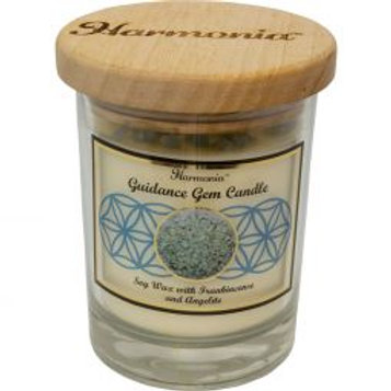 Crystal Candle - Guidance Angelite