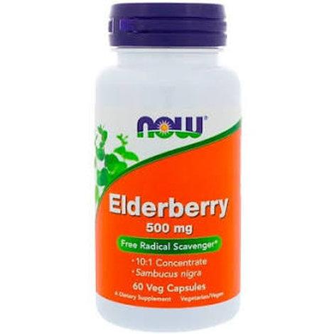 NOW Foods Elderberry 500mg  - 60 veg Capsules