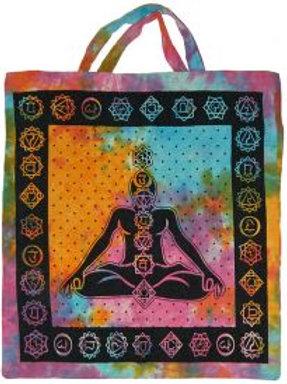 Tote Bag - Seven Chakras, Tie Dye