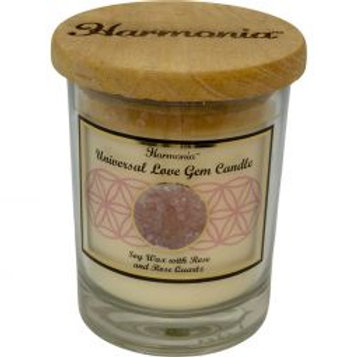 Crystal Candle - Universal Love Rose Quartz