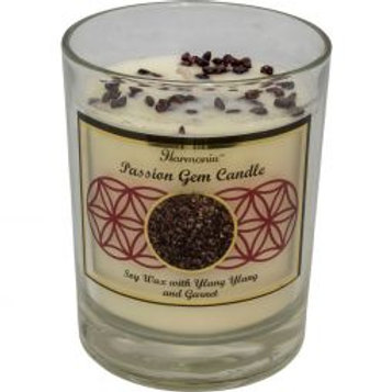 Crystal Candle - Passion Garnet