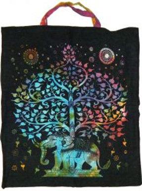 Tote Bag: Elephant Tree of Life, Tie Dye