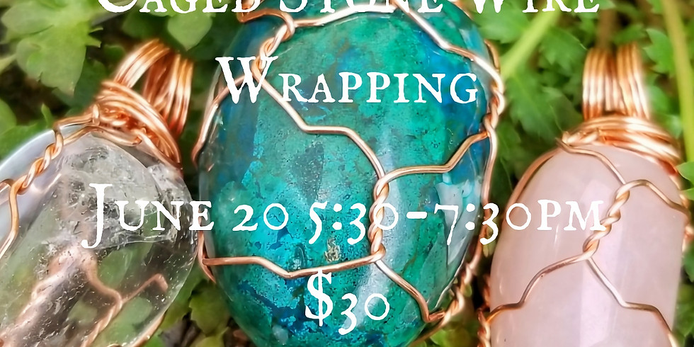 Caged Stone Wire Wrapping
